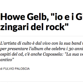 INTERVISTA AD HOWE GELB SU REPUBBLICA.IT