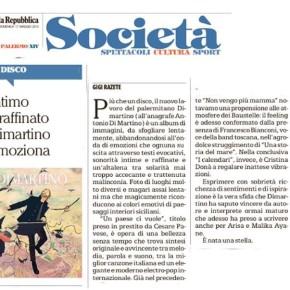 Il disco di Dimartino su La Repubblica Palermo