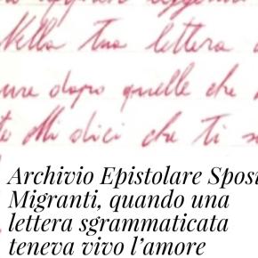 SU IL FATTO QUOTIDIANO L'ARCHIVIO EPISTOLARE DI MARIANGELA CAPOSSELA
