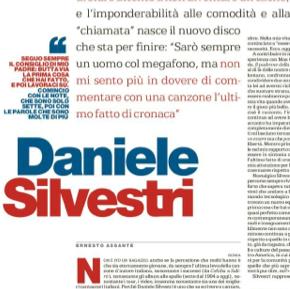 """LA REPUBBLICA DEDICA A DANIELE SILVESTRI LA PAGINA CULTURALE DE """"LA DOMENICA"""""""