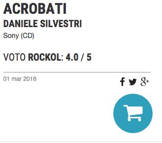 """""""ACROBATI"""" DI DANIELE SILVESTRI RECENSITO SU ROCKOL"""