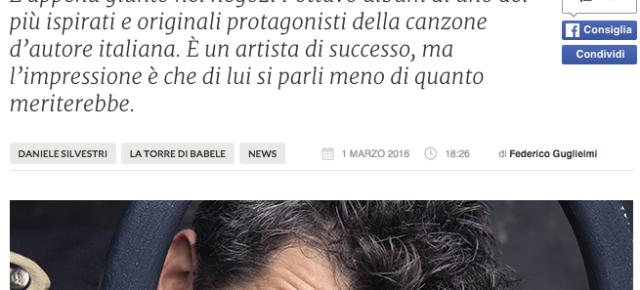 """""""ACROBATI"""" DI DANIELE SILVESTRI RECENSITO SU FANPAGE"""