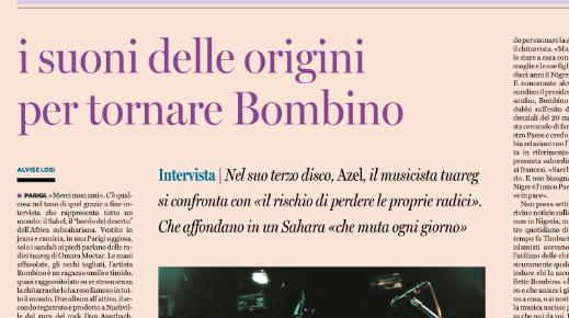 L'INTERVISTA A BOMBINO SU PAGINA99