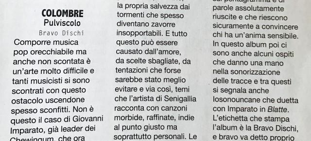 """""""PULVISCOLO"""" DI COLOMBRE SU ROCKERILLA"""